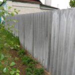 Как сделать забор из шифера своими руками: варианты и особенности установки