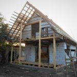 Планировка и строительство дачного дома  6х7 из газобетона с мансардой и террасой